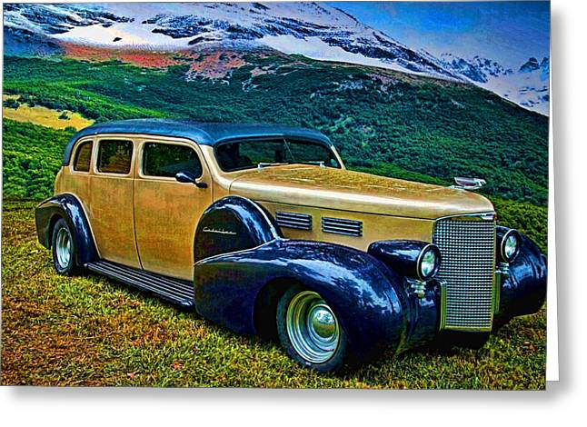 Touring Car Greeting Cards - 1938 Cadillac Touring Car  Greeting Card by Tim McCullough