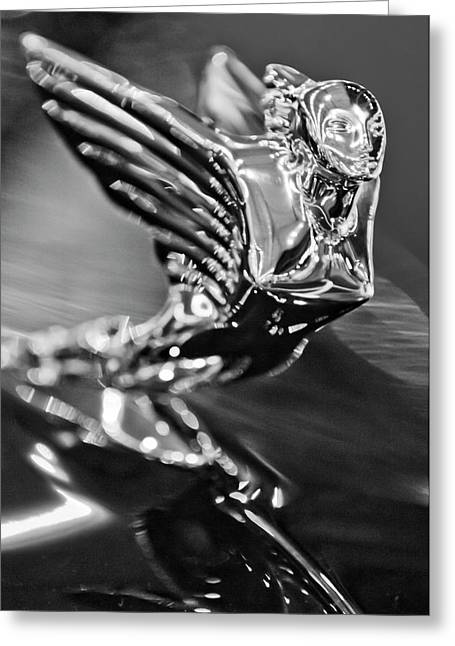 Parts Of Cars Greeting Cards - 1938 Cadillac V16 Hood Ornament Greeting Card by Jill Reger