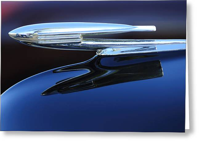 Collector Hood Ornament Greeting Cards - 1940 Cadillac La Salle Hood Ornament Greeting Card by Jill Reger