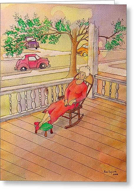 Foot Stool Greeting Cards - 1940 Greeting Card by Ron Sylvia