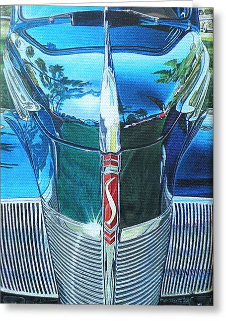 Jeff Taylor Greeting Cards - 1940 Studebaker Coupe Greeting Card by Jeff Taylor