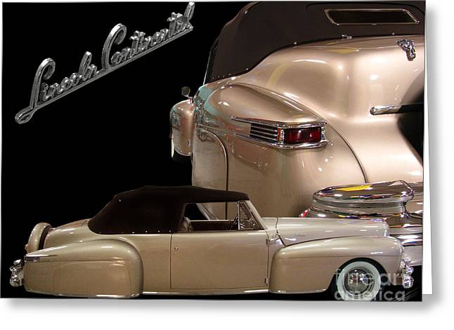Chrome Greeting Cards - 1941Lincoln Continental  Greeting Card by Peter Piatt
