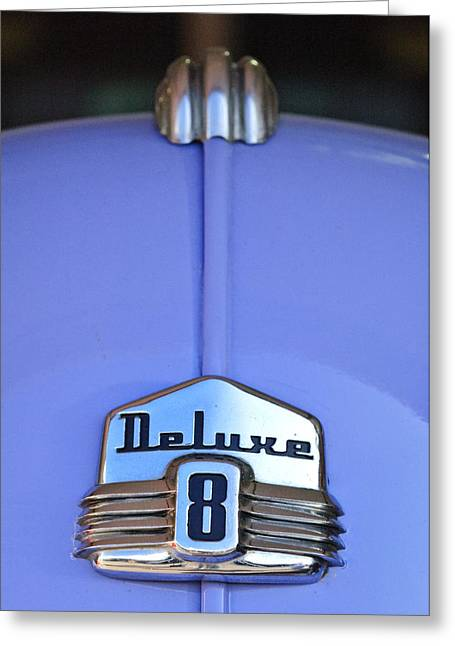 Hoodies Greeting Cards - 1942 Ford Hood Ornament Greeting Card by Jill Reger