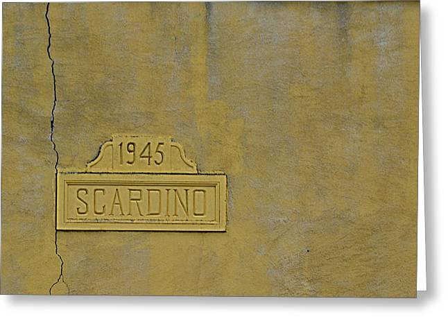 Res Greeting Cards - 1945 Scardino Greeting Card by Nikki Marie Smith