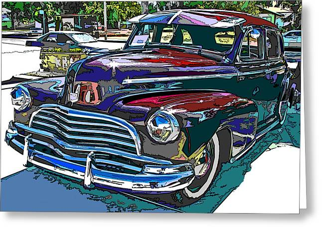 1946 Chevrolet Greeting Card by Samuel Sheats