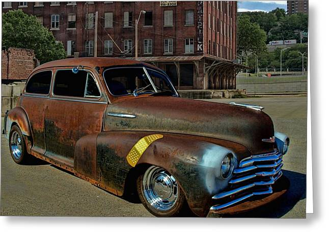 Fleetmaster Greeting Cards - 1947 Chevrolet FleetMaster Greeting Card by Tim McCullough