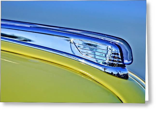 Car Mascots Greeting Cards - 1947 Ford Super Deluxe Hood Ornament 2 Greeting Card by Jill Reger