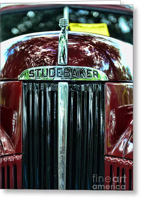 Express Greeting Cards - 1947 Studebaker Grill Greeting Card by Paul Ward