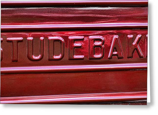 Express Greeting Cards - 1947 Studebaker Tail Gate Cherry Red Greeting Card by Paul Ward