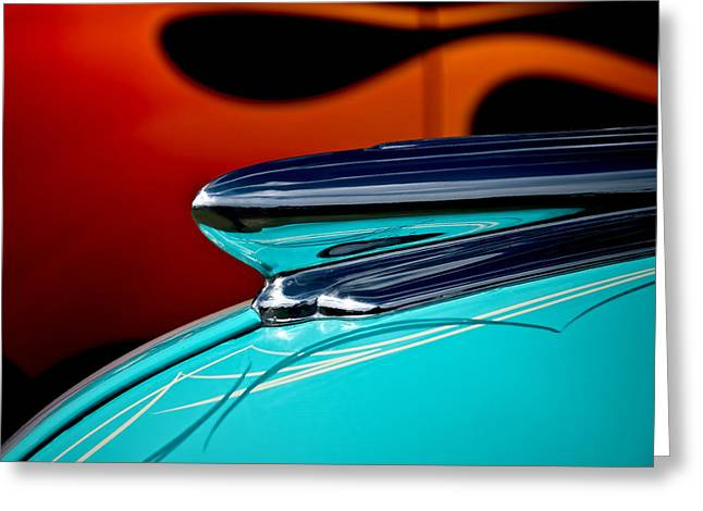 Vintage Auto Greeting Cards - 1948 Chevy Hood Ornament Greeting Card by Douglas Pittman