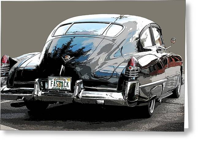 Lockhead Greeting Cards - 1948 Fastback Cadillac Greeting Card by Robert Meanor