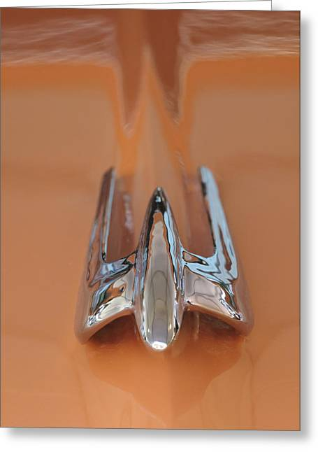 Car Mascot Greeting Cards - 1949 Lincoln Coupe Hood Ornament Greeting Card by Jill Reger