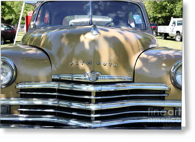 1949 Plymouth Photographs Greeting Cards - 1949 Plymouth Delux Sedan . 5D16205 Greeting Card by Wingsdomain Art and Photography