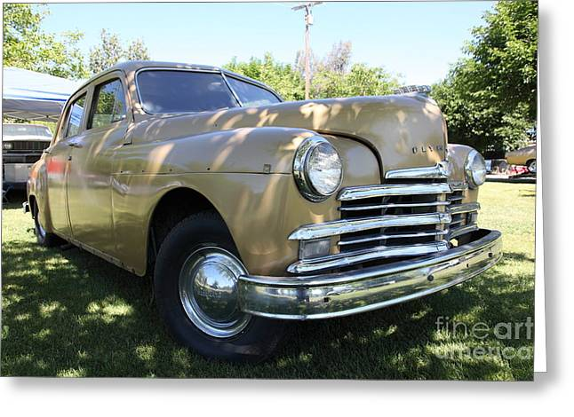 1949 Plymouth Delux Sedan . 5D16207 Greeting Card by Wingsdomain Art and Photography
