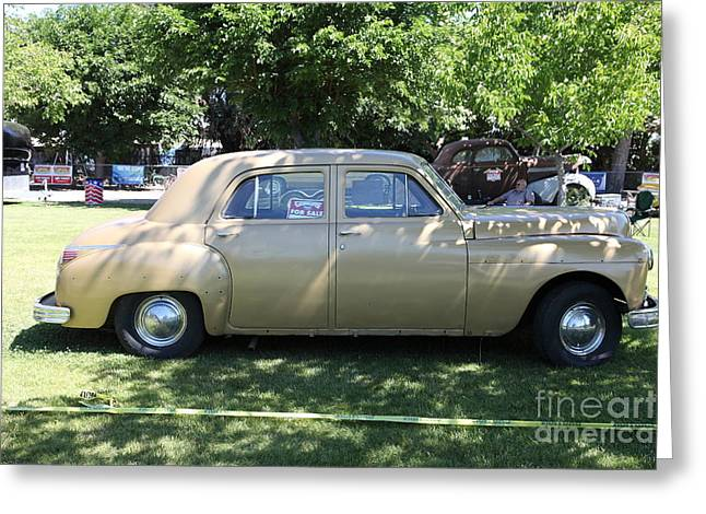 1949 Plymouth Delux Sedan . 5D16208 Greeting Card by Wingsdomain Art and Photography