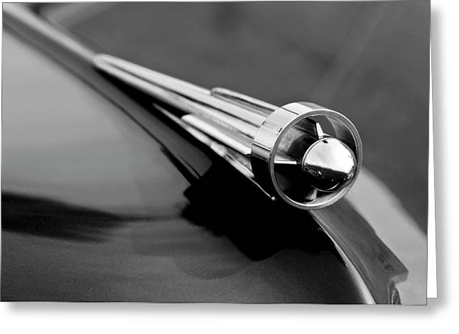 Parts Of Cars Greeting Cards - 1949 Studebaker Champion Hood Ornament 3 Greeting Card by Jill Reger