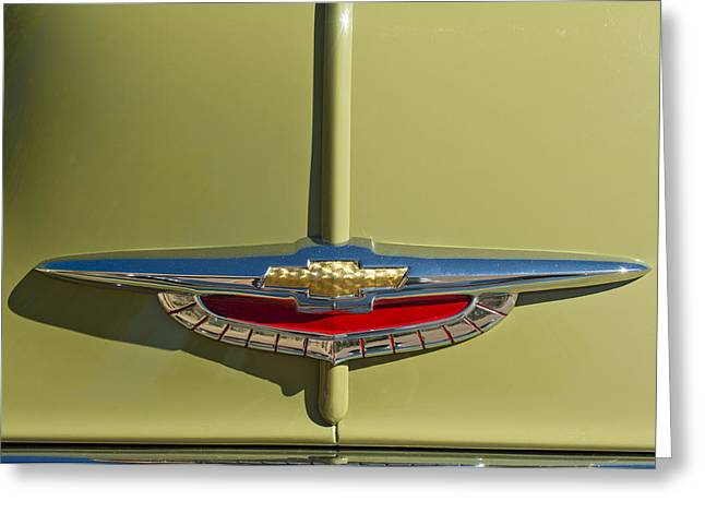 Fleetline Emblem Greeting Cards - 1950 Chevrolet Fleetline Emblem Greeting Card by Jill Reger