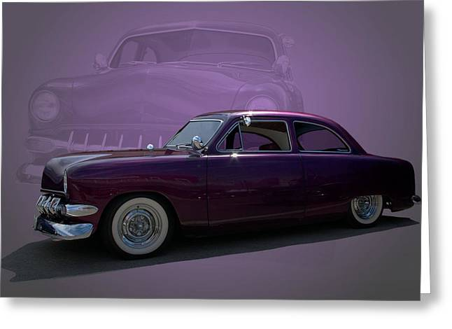 Custom Ford Greeting Cards - 1950 Custom Ford Street Rod Greeting Card by Tim McCullough