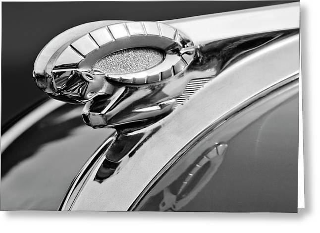 Parts Of Cars Greeting Cards - 1950 Dodge Ram Hood Ornament Greeting Card by Jill Reger