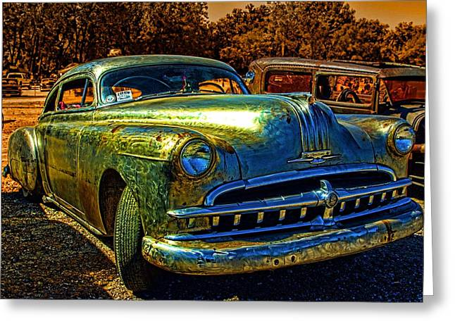 Greaserama Greeting Cards - 1950 Pontiac Low Rider Greeting Card by Tim McCullough