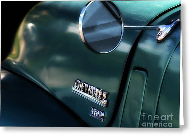Chevrolet Pickup Truck Digital Greeting Cards - 1950s Chevy 3100 Pickup Truck Greeting Card by Steven  Digman