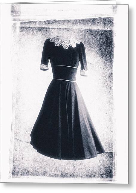 1950s Dress Greeting Card by David Ridley