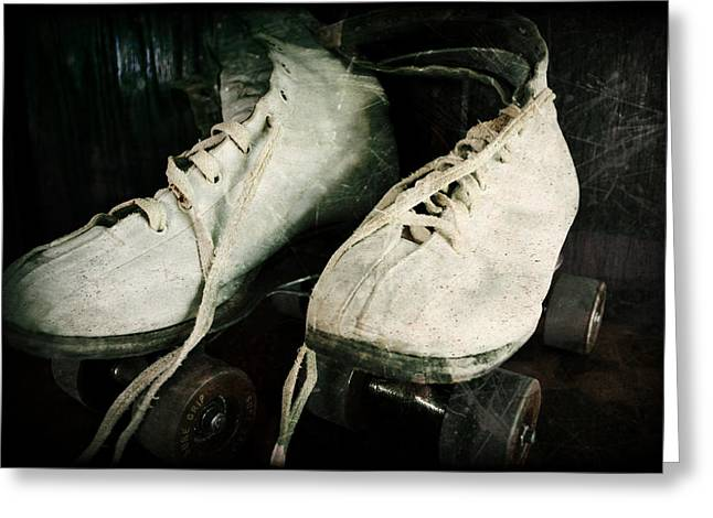 1950's Roller Skates Greeting Card by Michelle Calkins