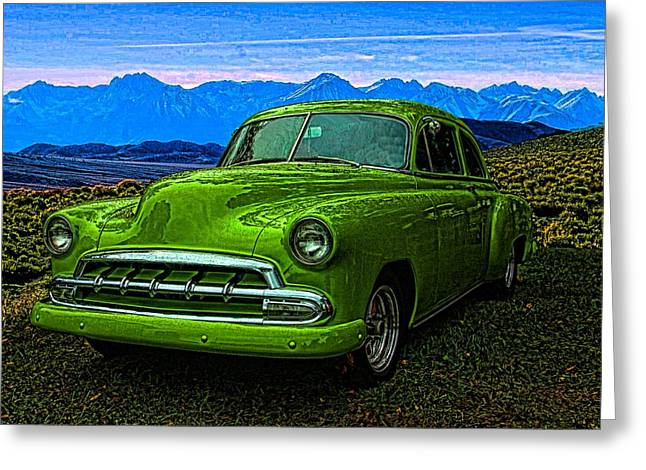 1951 Greeting Cards - 1951 Chevrolet Slime Green Greeting Card by Tim McCullough