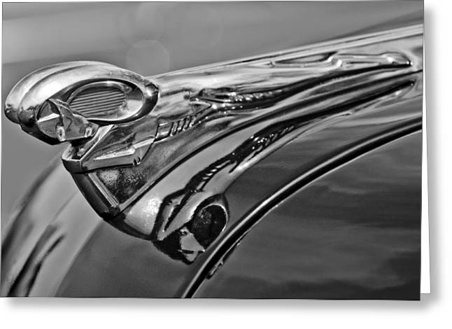 Parts Of Cars Greeting Cards - 1951 Dodge Pilot House Pickup Hood Ornament 2 Greeting Card by Jill Reger