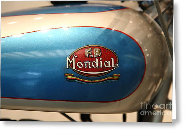 Fb Greeting Cards - 1951 FB Mondial 125cc Turismo . 5D17018 Greeting Card by Wingsdomain Art and Photography