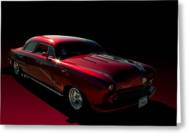 1951 Greeting Cards - 1951 Ford Custom Low Rider Greeting Card by Tim McCullough