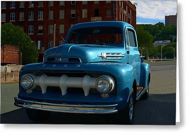 1951 Greeting Cards - 1951 Ford F1 Pickup Truck Greeting Card by Tim McCullough