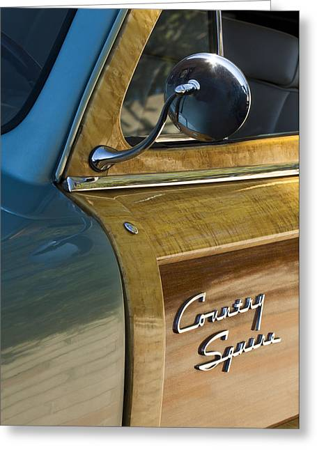 1951 Ford Woodie Country Sedan Greeting Card by Jill Reger