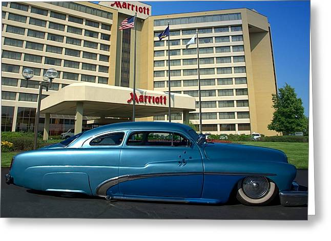 1951 Greeting Cards - 1951 Mercury Low Rider Greeting Card by Tim McCullough