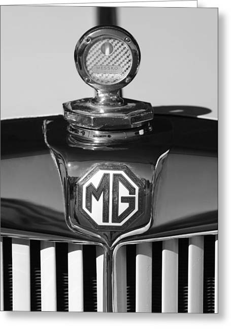1951 Greeting Cards - 1951 MG TD Messko Thermometer Hood Ornament 2 Greeting Card by Jill Reger