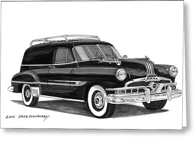 80s Greeting Cards - 1951 Pontiac Panel Delivery Greeting Card by Jack Pumphrey
