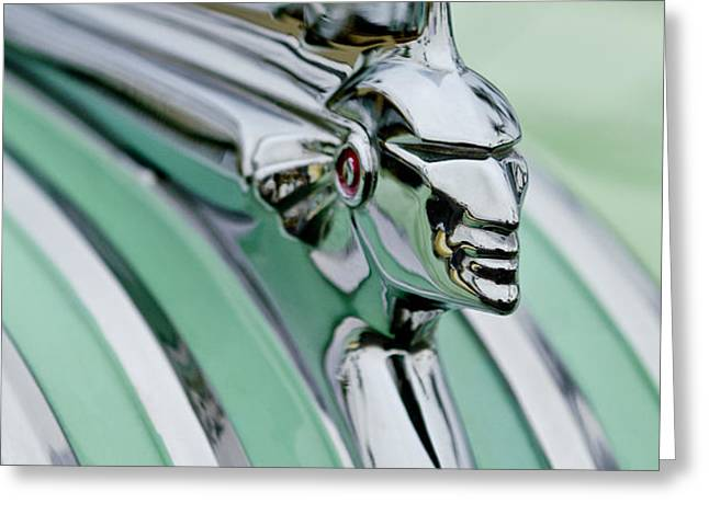 1951 Pontiac Streamliner Hood Ornament 3 Greeting Card by Jill Reger