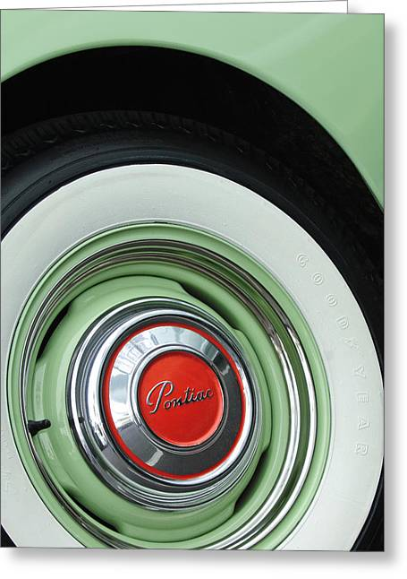 1951 Greeting Cards - 1951 Pontiac Streamliner Wheel 2 Greeting Card by Jill Reger