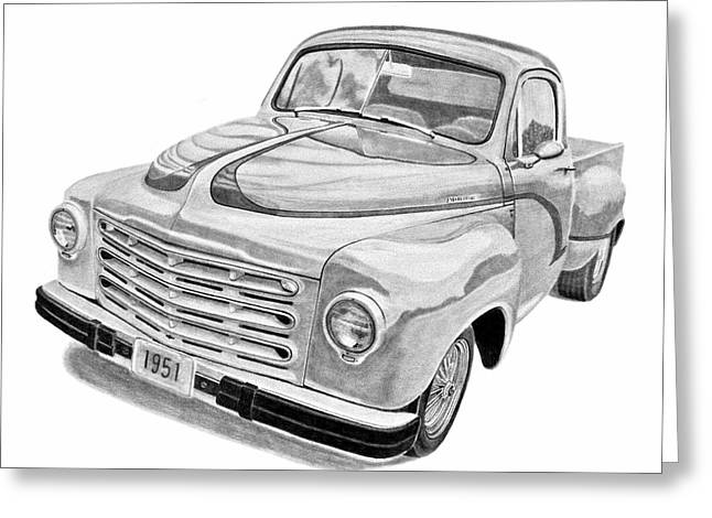 1951 Studebaker Pickup Truck Greeting Card by Daniel Storm