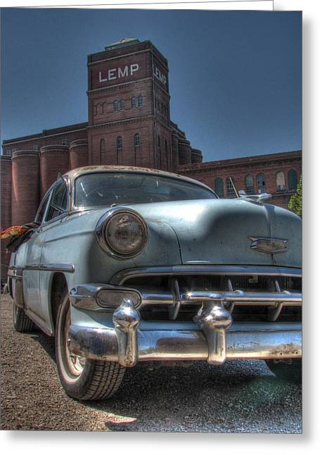 Missouri Photographer Greeting Cards - 1952 Chevy Bel Air Greeting Card by Jane Linders