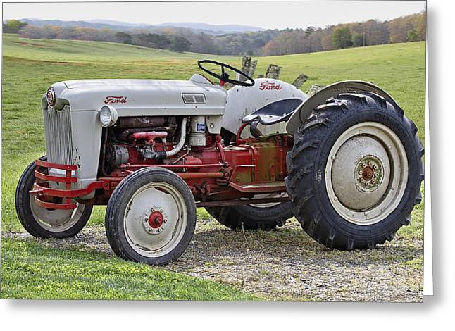 Best Sellers -  - Tennessee Farm Greeting Cards - 1953 Ford Golden Jubilee NAA Greeting Card by Debra and Dave Vanderlaan