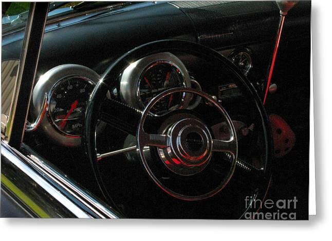 Classic Car Greeting Cards - 1953 Mercury Monterey Dash Greeting Card by Peter Piatt
