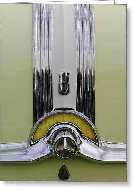 1953 Pontiac Greeting Cards - 1953 Pontiac Emblem Greeting Card by Jill Reger