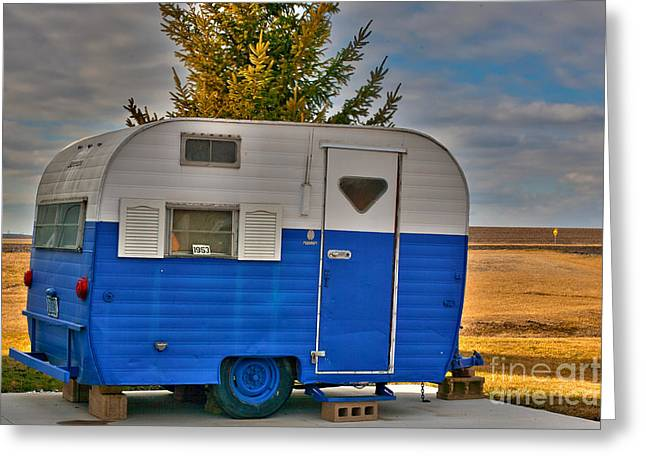 Best Sellers -  - Replacing Greeting Cards - 1953 Pull Behind Camper Greeting Card by Alan Look