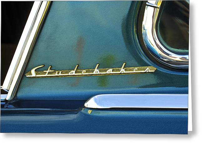 Cars Photographs Greeting Cards - 1953 Studebaker Champion Starliner Abstract Greeting Card by Jill Reger