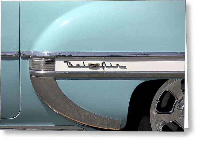 Bow Tie Greeting Cards - 1954 Chevy Belair Greeting Card by Mike McGlothlen