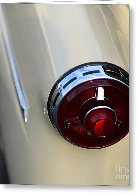 Collector Hood Ornament Greeting Cards - 1954 Ford Customline Tail Light Greeting Card by Paul Ward