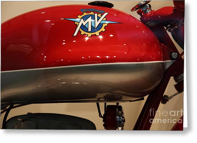 Mv Greeting Cards - 1955 Agusta MV 175cc CSS Super Sport - Disco Volante . 5D16989 Greeting Card by Wingsdomain Art and Photography