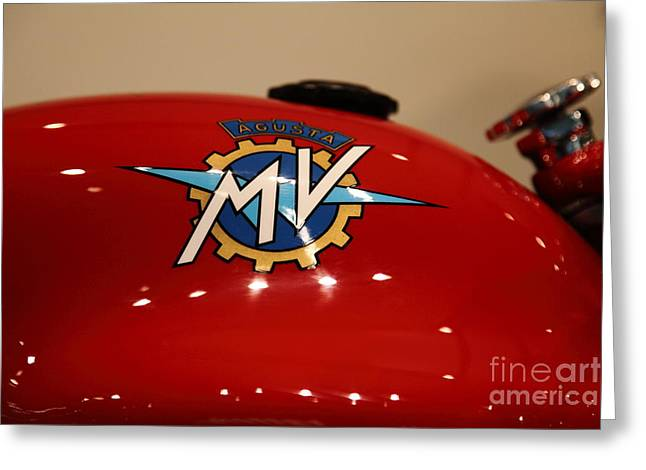 Mv Greeting Cards - 1955 Agusta MV 175cc CSS Super Sport - Disco Volante . 5D17021 Greeting Card by Wingsdomain Art and Photography