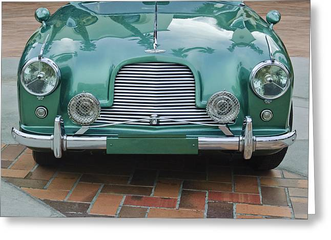 1955 Greeting Cards - 1955 Aston Martin Greeting Card by Jill Reger